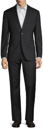 Saks Fifth Avenue Herringbone Wool Suit