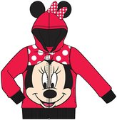 Disney Minnie Mouse Big Face Toddler Girls Fashion Sweatshirt Hoodie