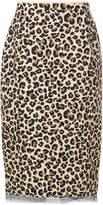 No.21 leopard print midi skirt