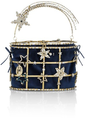 Rosantica Hiolli Superstar Crystal-Embellished Top Handle Bag