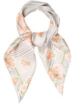 John Galliano Silk Floral Scarf