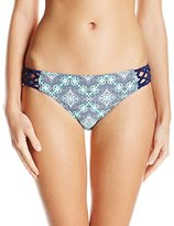 Jessica Simpson Women's Desert Diamond Side-Braided Hipster Bikini Bottom