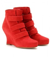 Tabitha Simmons AMBER SUEDE WEDGE ANKLE BOOTS