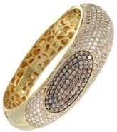 Roberto Coin Capri Plus 18K Yellow Gold Diamond Pave Bangle Bracelet