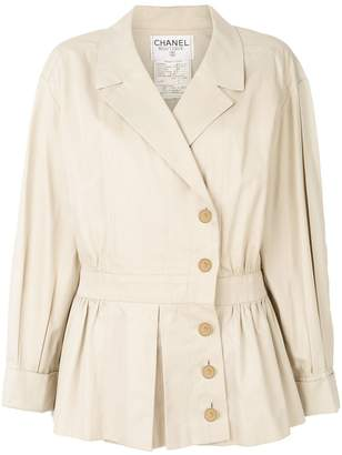 Chanel Pre Owned 1990 cropped trench coat