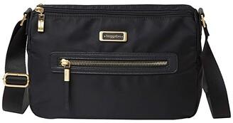 Baggallini City Lights Chloe Crossbody (Black) Handbags