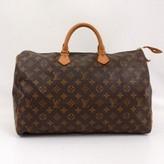 Louis Vuitton very good (VG Brown Monogram Canvas Speedy 40 City Handbag