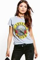 Boohoo Phoebe Guns N Roses Band T-shirt
