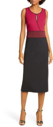 Diane von Furstenberg Joanne Colorblock Sleeveless Sheath Dress