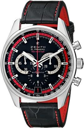 Zenith Men's 032043400.25C Class El Primero Analog Display Swiss Automatic Black Watch