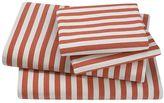 DwellStudio Dwell Studio Draper Stripe Full Sheet Set - Poppy