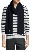 Moncler Men's Virgin Wool Scarf, Navy
