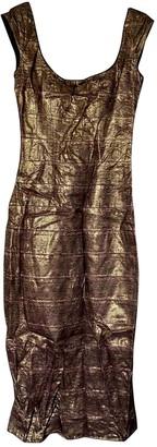 L'Wren Scott Gold Lace Dress for Women