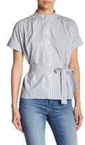 Vero Moda Natasha Striped Belted Shirt