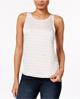 Kensie Hello Goodbye Striped Graphic Top