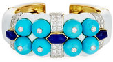 David Webb Sleeping Beauty Turquoise & Lapis Bracelet with Diamonds