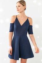 Keepsake Slow Motion Cold Shoulder Fit + Flare Mini Dress
