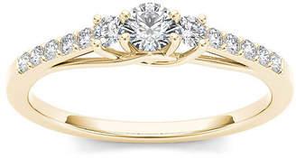 MODERN BRIDE 1/3 CT. T.W. Diamond 10K Yellow Gold 3-Stone Engagement Ring