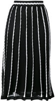 M Missoni stripe panel midi skirt - women - Cotton/Polyamide/Polyester/Metallic Fibre - 42