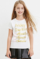 Forever 21 FOREVER 21+ Girls Metallic Friday Graphic Tee (Kids)