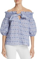 Parker Spade Embroidered Off-the-Shoulder Blouse
