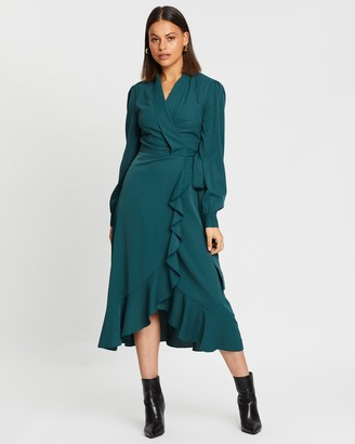 Atmos & Here Biancca Wrap Midi Dress