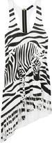 Zebra-print jersey tank