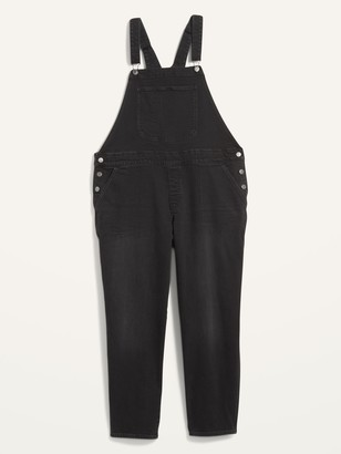 Old Navy Straight Plus-Size Black Jean Overalls