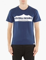 White Mountaineering Navy Cotton Logo T-shirt