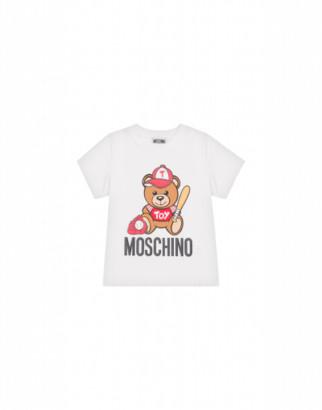 Moschino Baseball Teddy Bear T-shirt Unisex White Size 4a It - (4y Us)