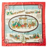 "Hermes hiver En Poste"""" By Philippe Ledoux Silk Scarf."