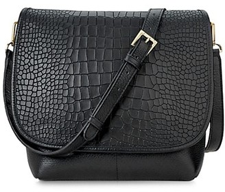 GiGi New York Andie Croc-Embossed Leather Crossbody Bag