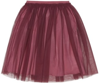Il Gufo Tulle and cotton skirt