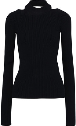 Helmut Lang Open-back Ribbed-knit Top