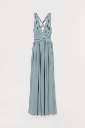 H&M Pleated Maxi Dress