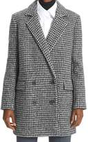 Gerard Darel Pandi Virgin Wool Houndstooth Coat