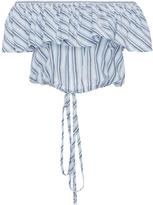 Jill Stuart Bahar Cropped Ruffle Top