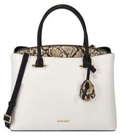 Nine West Eloise Jet Set Faux Leather Satchel