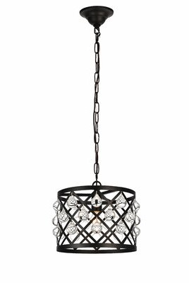 House of Hampton Westbourne 1-Light Single Drum Pendant Finish: Black