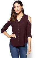 New York & Co. Soho Soft Shirt - Cold Shoulder