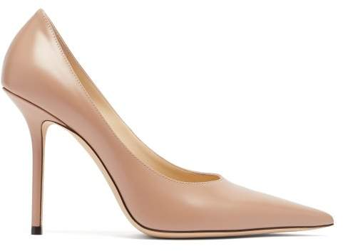Jimmy Choo Ava 100 Leather Pumps - Womens - Nude