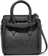 Alexander McQueen Heroine mini printed textured-leather shoulder bag