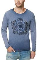 Buffalo David Bitton Men's Ficuba Long Sleeve Crew Neck Fashion Fleece Sweatshirt