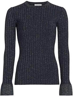 Derek Lam 10 Crosby Metallic Bell-Sleeve Sweater