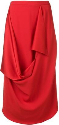 Chalayan draped detail skirt