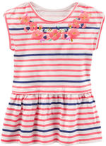 Osh Kosh TLC Striped Peplum-Hem Tunic