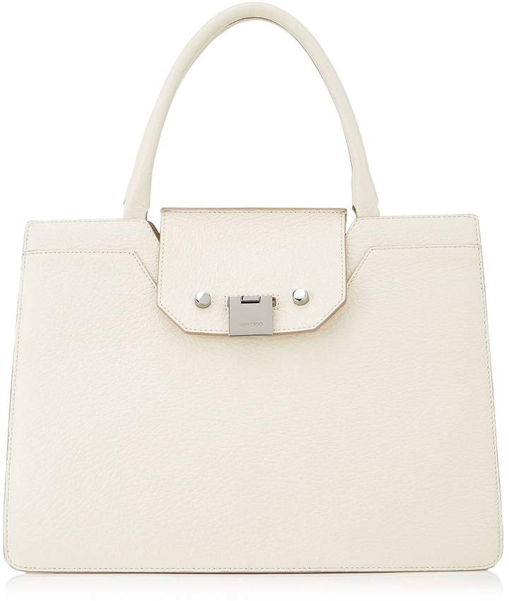 Jimmy Choo Small Rebel Leather Top Handle Tote