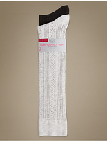 M&S Collection 2 Pair Pack Sumptuously Soft Knee High Socks