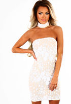 Pink Boutique Limited Edition Saturday Sass White Sequin Choker Mini Dress