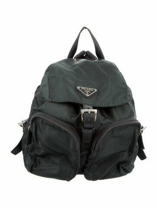 Prada Mini Tessuto Backpack green